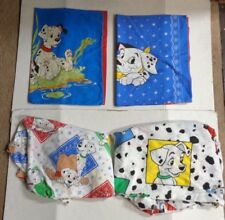 Disney 101 Dalmatians 2 Pillowcases 2 Fitted Sheets Lot of 4