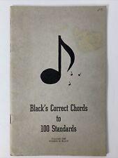 "Black's Correct Chords to 100 Standards c.1946 Rare Orig. Sheet Music 5.5""x8.5"""
