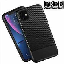 Case For iPhone 11 Pro Max XR X XS Max 8 7 Plus Shockproof Silicone Carbon Cover