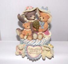 """TeddyHugs"" Bear/Bunny Resin Figurine~San Francisco Music Box Co~Matthew Danko"