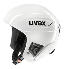 NEW UVEX RACE + PLUS SKI & SNOWBOARD RACING HELMET WHITE 55 - 56 cm FIS APPROVED