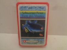 Vintage  Schwarzer Peter Tiere des Meeres Berliner Spie Quartett 90er J. unbesp.