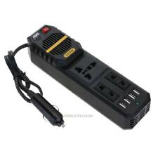 Pure Sine Wave Car Power Inverter 200W DC 12V to AC 220V w/ 4 USB Ports Adapter