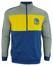 OuterStuff NBA Youth Golden State Warriors Performance Full Zip Stripe Jacket