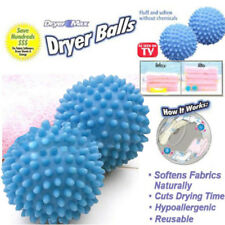2x Blue Dryer Balls Washing Laundry Drying Fabrics Softener Home Clothes Clean A