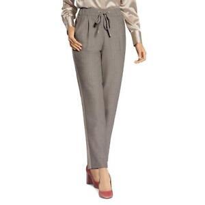 Basler Womens Brown Emboidered Drawstring Pull On Jogger Pants 6 BHFO 7106