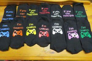 Game / Gamer / Gaming Socks - 5 sizes for boys Teens & Men ideal Stocking filler