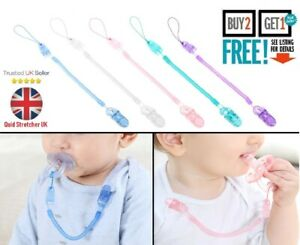 UK Baby Dummy Gripper Clip Holder Pacifier Clips Teething Silicone Soother Gifts