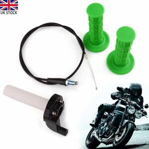 Pit Dirt Quick Action Bike Throttle Grip Twist Cable Kit For 110cc 125cc Pitbike