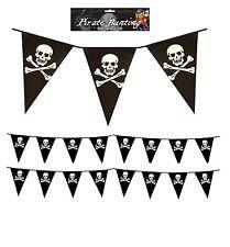 12 FT PIRATE BUNTING Party Flag PVC Banner Skull Cross Bones Kids Birthday Flags