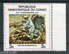 CONGO 1969, timbre 708, TABLEAU BONNEVALLE, PAINTING, OIT, neuf**, VF MNH stamp