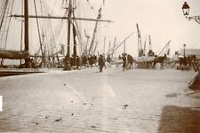 Tunisie, Sousse, vue sur le port, navires amarrés  Vintage citrate print, Ti