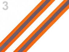 Reflexband Reflektorband orange silber reflektierend Band Zierband  26mm breit