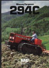 "Massey Ferguson ""294C"" Crawler Tractor Brochure Leaflet"