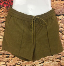 J.Crew Ladies Pull On Flannel Shorts Heathered Olive Green Small Fits Like M/L