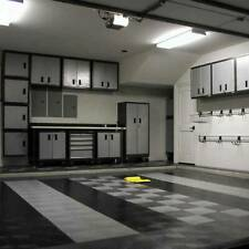 MotoFloor Modular Garage Flooring Tiles Sold Individually - Black Color
