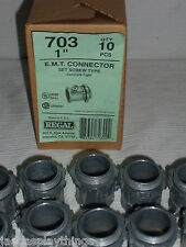 "Regal Fittings 703 EMT E.M.T. 1"" Connector Lot of 10 FREE US Shipping"