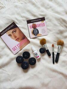 Bare minerals get started kit foundation set light with brushes and primer