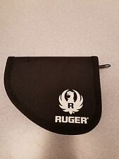 Factory Ruger Subcompact Semi-automatic LCP .380 Zippered Black Soft Pistol Case