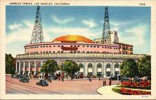 Postcard Angelus Temple Los Angeles California