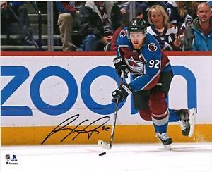 "Gabriel Landeskog Colorado Avalanche Signed 16"" x 20"" Burgundy Jersey Photo"