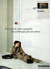 Publicité 2003  THOMSON LYRA audio vidéo jukebox PDP 2860
