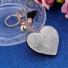 Keyring Romantic Heart Jewelry Woman Chain Ring Bag Pendant Rhinestone Fashion