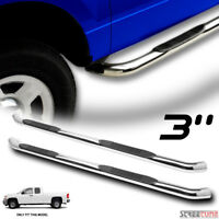 """For 07-18 Silverado/Sierra Extended Cab 3"""" Chrome Side Step Nerf Bars Boards Hd"""