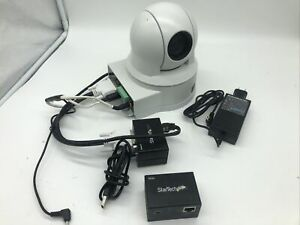 1 Sony EVI-H100V HD PTZ Camera with AC Adapter With Startech Remote & Local