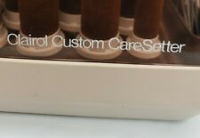 Clairol Custom Caresetter 20 Flocked Electric Hot Rollers Curlers W/Clips KF-20