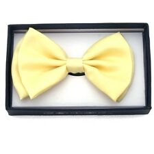 NEW MENS WOMENS BOWTIE TUXEDO PARTY NECK BOW TIE ~ PASTEL YELLOW BOT-YELLOW0131U