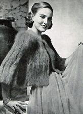 Vintage Visage knitting pattern-ladies soft , fluffy evening jacket