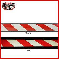 Nastro Adesivo Riflettente Multiuso Bianco Rosso Catarifrangente 5x100 cm