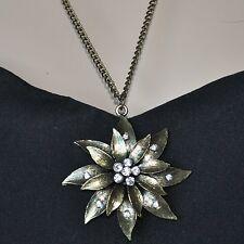 Halskette Kette Blume Blüte Edelweiss Distel Silberdistel B1