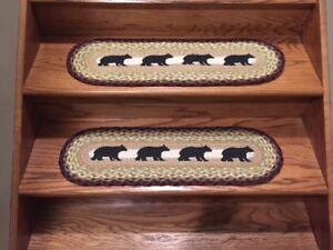 Cabin Bear Print Stair Tread