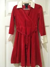 Ralph Lauren Red Velvet Dress Size 4/4T