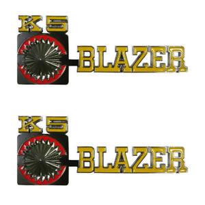 "75-80 Chevrolet "" K5 BLAZER "" 4WD Front Fender Emblem Trim SET - Trim Parts"