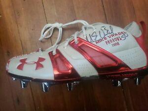 Mike Vrabel Autographed NE Patriots 2008 Pro Bowl Left Cleat jsa certification