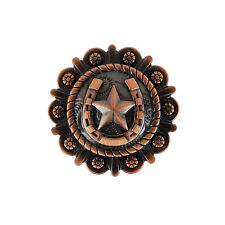 """12 Horseshoe Star Metal Conchos Copper Finish with Screws Leather Crafts 1.5"""""""