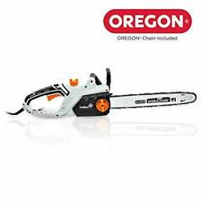 Ivation 16 Inch 15.0 Amp Electric Chainsaw w Auto Oiling, Automatic Chain Brake