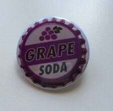 Button Badge - GRAPE SODA design - Novelty Cute Up! 50mm Pin badge