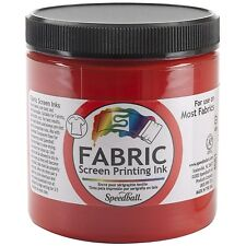 Special Fabric Screen Printing Ink Colour Red 8 oz Jar FSPI8-4561 NEW FREE SHIP