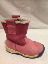 Girls Timberland Pink Leather Boots Size 6