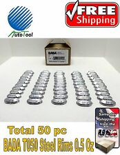 WHEEL WEIGHTS STEEL Clip on RIMS 0.50 Oz, 50 pc Box BADA T 050  MADE IN USA