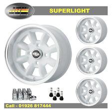 7x 13 Superlight Wheels Classic Mini Set of 4 White