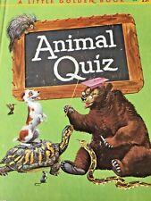 LITTLE GOLDEN BOOK - ANIMAL QUIZ - A EDITION - #396 - 1960
