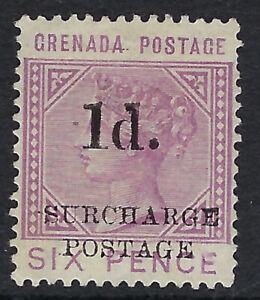GRENADA : 1892 POSTAGE DUE 1d on 6d mauve SG D4 unused no gum