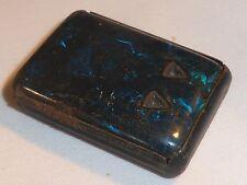 Gorgeous Rare Antique Victorian Blue Jahncke's Patent Dressmaking Pin Box 1880s