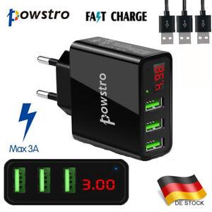 Schnell Ladegerät Stecker 3x USB Port 5V 3A Netzteil Adapter Für Handy PC Tablet