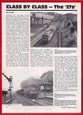 Rail Magazine Extract - BR Class 27 - BRCW Bo-Bo Locos: History & Profile - 1991